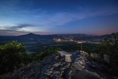 pohled z hradu Ostrý