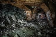 Podzemní továrna Richard - Chodba C a odbočka do chodby 62