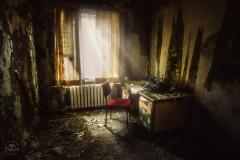 starý pokoj v opuštěném hotelu