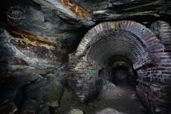 Podzemní továrna Richard - zděná chodba