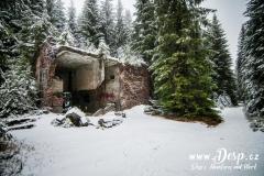 Další zbytek budovy cínového dolu v zimě