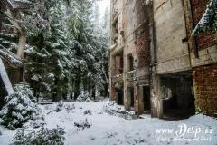 Vnější prostory Sauersack v zimě
