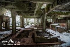 Vnitřní prostory Sauersacku v zimě
