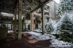 Vnitřní prostory Sauersack v zimě